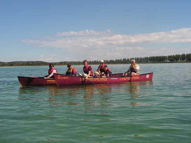 Mit dem Kanu unterwegs auf dem Untersee - Foto: Bodensee-Kanutours