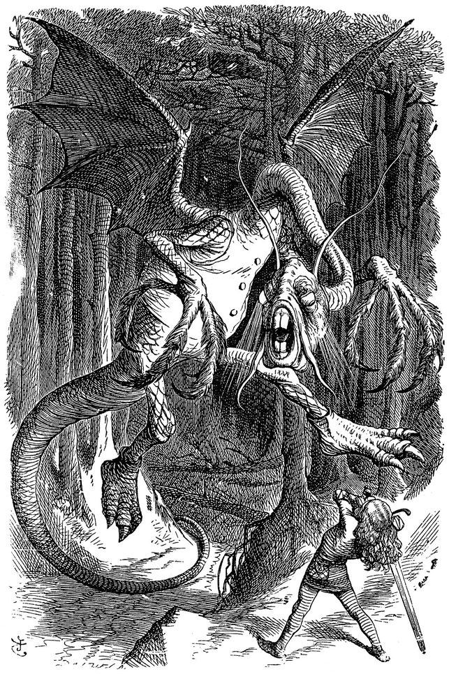 ジョン・テニエルの挿絵で描かれた「ジャバウォック」