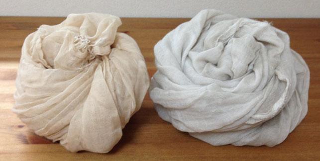 クリームとホワイトグレーベージュの比較