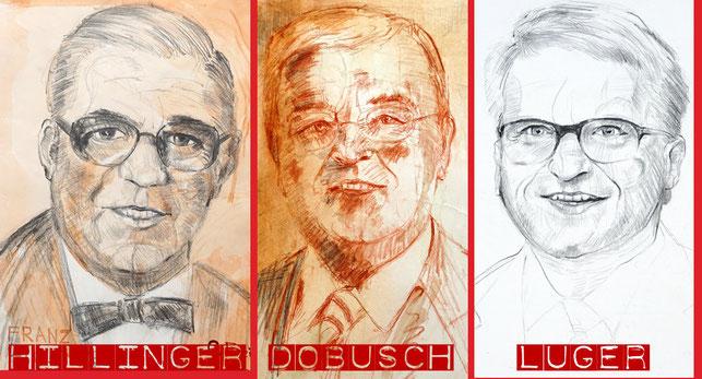 Drei Bürgermeister der Stadt Linz: Franz Hillinger, Franz Dobusch und Klaus Luger!