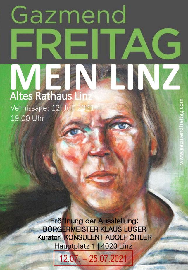 Gazmend Freitag mit dem Bürgermeister Klaus Luger - Portrait.  © Johann Traunwieser