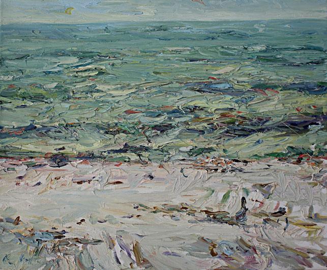 Neuhaus, Ostsee   1998, Öl auf LW, 46 cm x 55 cm
