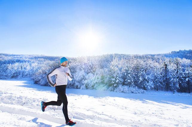 Laufen im tiefsten Winter