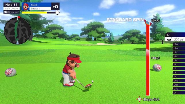 Mario schlägt einen Ball in Mario Golf: Super Rush von Nintendo für die Nintendo Switch