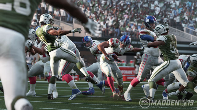 Madden, NFL, 19, American Football, Patriots, Eagles, Broncos, Seahawks, Electronic Arts, EA, EA Sports, NFLPA, Super Bowl, USA, Longshot, Story, Cowboys, Giants, Interception, Touchdown, Fumble, Catch, Fieldgoal