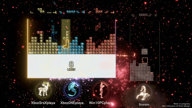 Tetris Effect, Connected, Xbox Series X, Xbox Series S, Launch, Next Gen, Multiplayer, Monstars, Resonair, Stage Games, Puzzle, Tetrominos, Coop, Game Pass, Musik, Effekte, Playstation VR, Virtual Reality, Zone, Mystery, Tetris Company