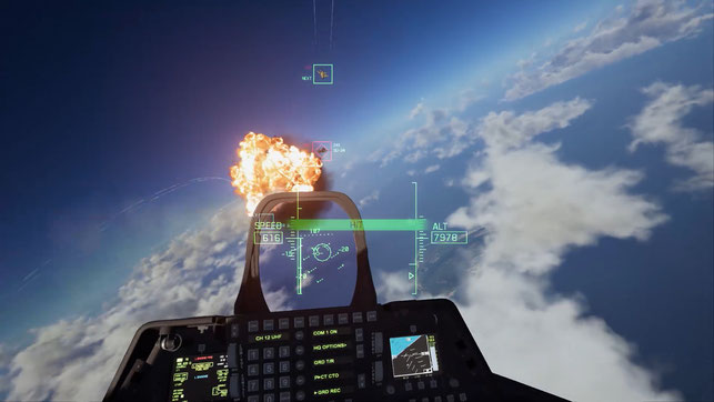 Ace Combat, Ace Combat 7, Skies Unknown, Bandai Namco, Project Aces, VR, Osean, Erusea, Sunao Katabuchi, Flugzeug, Trigger, Drohnen, F-16, MIG 35, AC-10, F-22, Radar, F/A-18, Virtual Reality, PS VR, Bandai, Namco, Jet, Bomber
