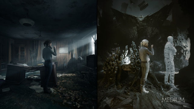 The Medium, Bloober Team, Xbox, Game Pass, exklusiv, Series X, Series S, Polen, Dual Reality, Horror, Marianne, Thomas, Richard, Niwa Resort, Next Gen, Layers of Fear, Blair Witch, Observer, Akira Yamaoka, Silent Hill, Zdzisław Beksiński, Reikowski