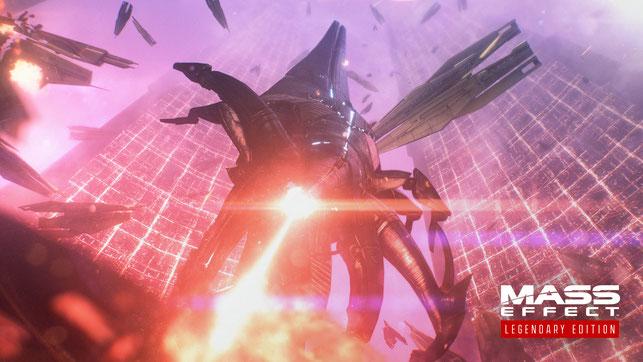 Ein Reaper greift die Citadel an in Mass Effect von Bioware