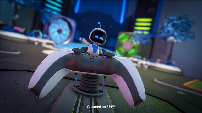 Astro Bot, Astro's Playroom, Japan Studio, Sony, Playstation 5, PS 5, DualSense, vorinstalliert, Tech Demo, Plattformer, SIE, Sony Interactive Entertainment, CPU Plaza, SSD Speedway, Labo, Gacha, GPU Dschungel, Cooling Springs, Memory Meadow, T-Rex