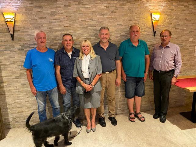 von links Günter Unger, Karl-Heinz Gräf, Romy Möhle, Wolfgang Gräf, Karl-Heinz Müller und Rolf Möhle