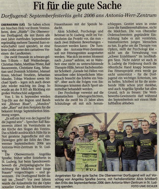 12.08.2006 Schweinfurter Tagblatt