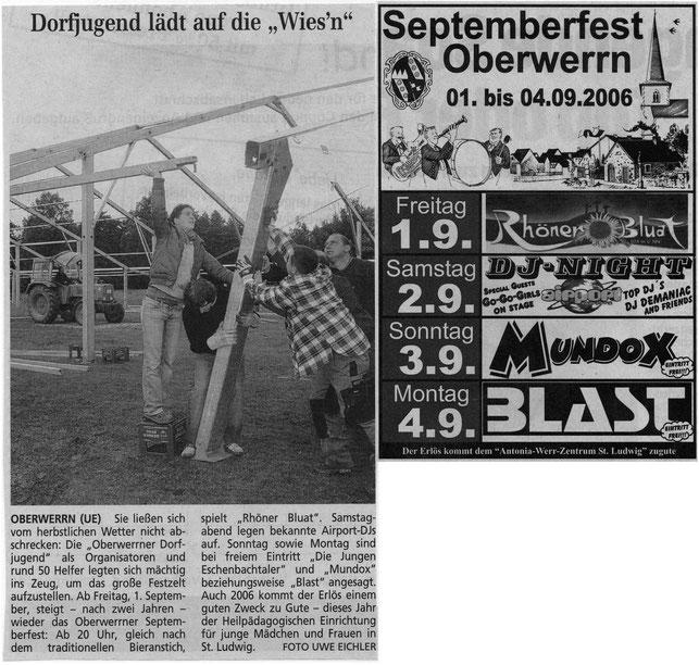 01.09.2006 Schweinfurter Tagblatt