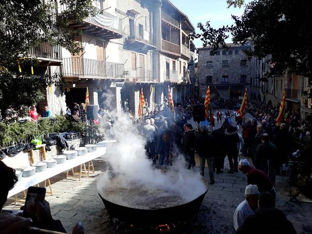 Праздник риса в городе Бага (Каталония)