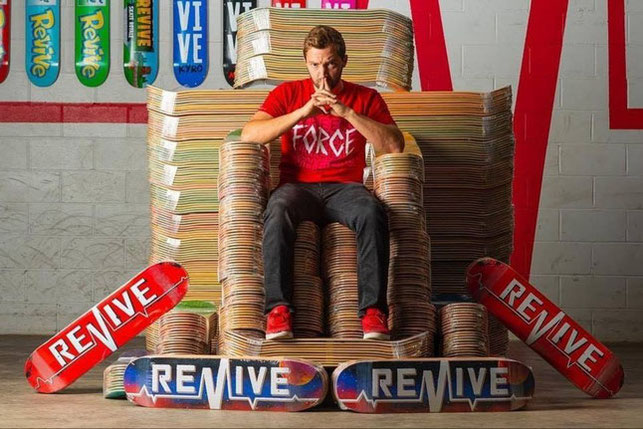 Revive Skateboards Andy Schrock Game of Thrones/Decks / VMS Distribution Europe - Revive Force 3Block Braille