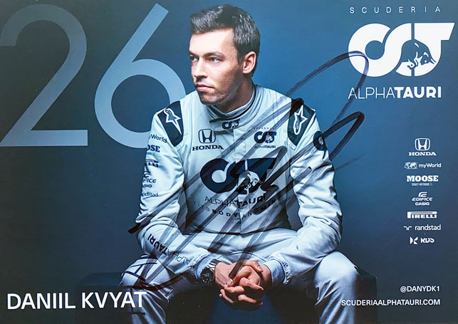 Autograph Daniil Kvyat Autogramm