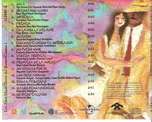 """""""En la orilla del mar"""", Track No. 5 - CD Universal No. 153997-2, 1999."""