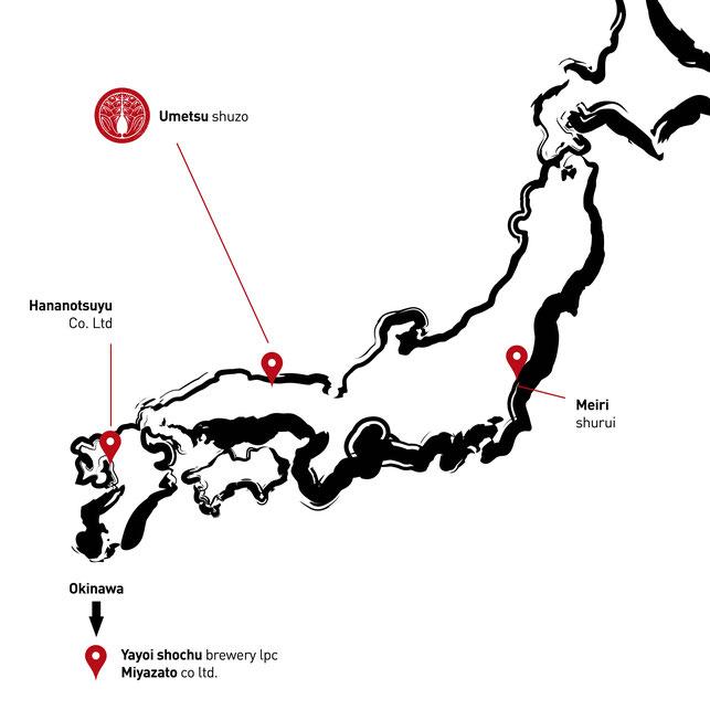 situation géographique des distillateurs partenaires de Dev-A