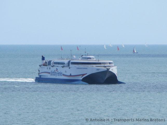 HSC Normandie Express en route pour Portsmouth.