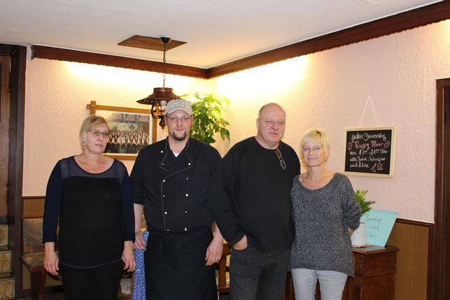 von links: Birgit, Christian, Dietmar und Monika