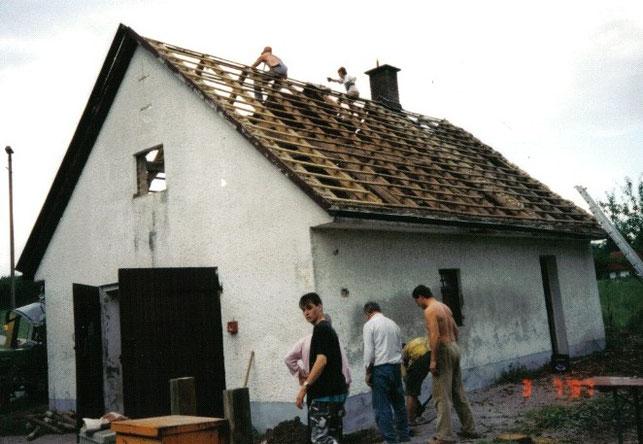 Abriss des alten Gerätehauses