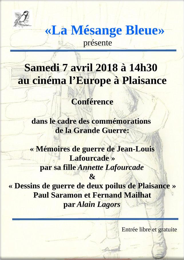 La Mésange Bleue Plaisance Gers Conférence