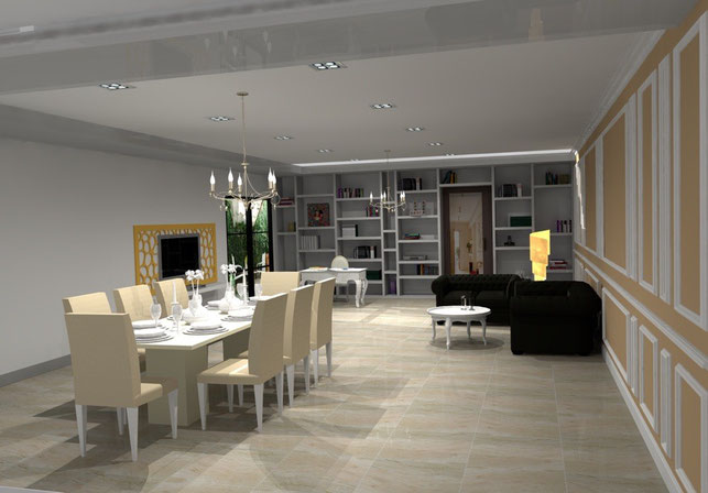 3D Interior Design - French style Loung