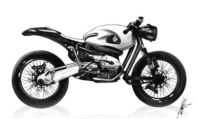 Deus Ex Machina Concept Drawing BMW Motorrad