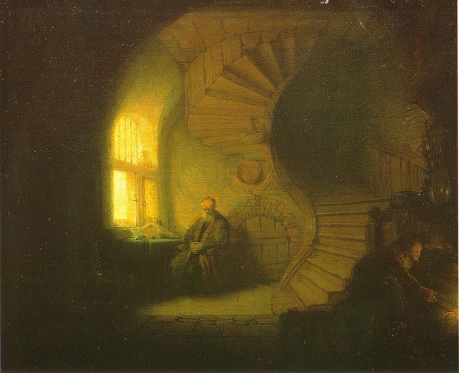 """Rembrandt, """"Filosofo in meditazione"""" (1632)"""