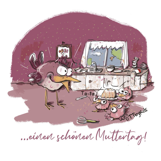muttertag, chaos, küchenschlacht, das große backen, mit liebe gemacht, kinder, motherday, otbyrds