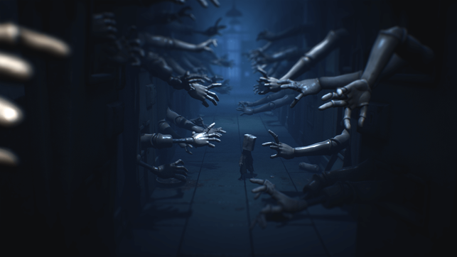 Little Nightmares 2, Little Nightmares, Six, Mono, Bandai Namco, Tarsier Studios, Horror, Puzzle, Plattformer, Pale City, Spieluhr, Krankenhaus, Jäger, Schule, Turm, Fernseher, Thin Man, Auge, gamescom, Embracer Group, Glitch, Hüte, Rätsel, Fernbedienung