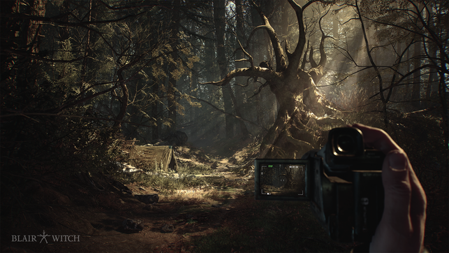 Blair Witch, Black Hills Forest, Wald, Bloober Team, Layers of Fear, Ellis, Bullet, Carver, Hexe, Peter, Burkittsville, 1996, Film, Sheriff, Jess, Lions Gate, Xbox, Game Pass, Hund, Pet the Dog