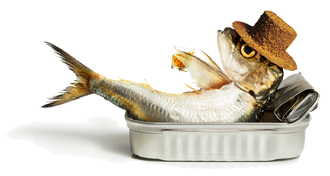 Traumatherapie Osnabrück Gelassenheit Fisch mit Hut in Dose
