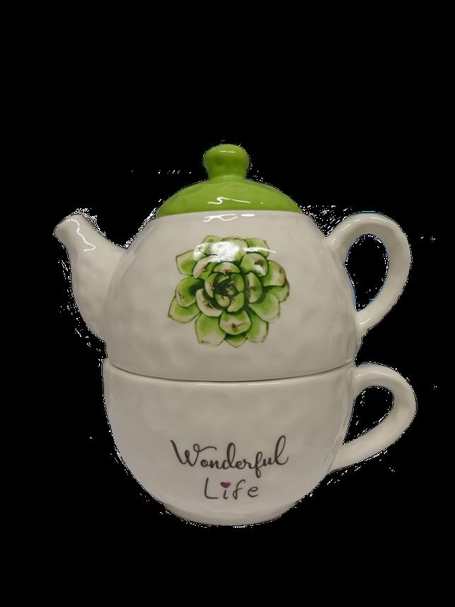 Teiera con tazza integrata
