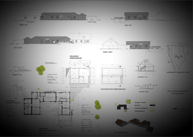 CAD- Aufmaß Bestand Wohngebäude für Wohnraumerweiterung