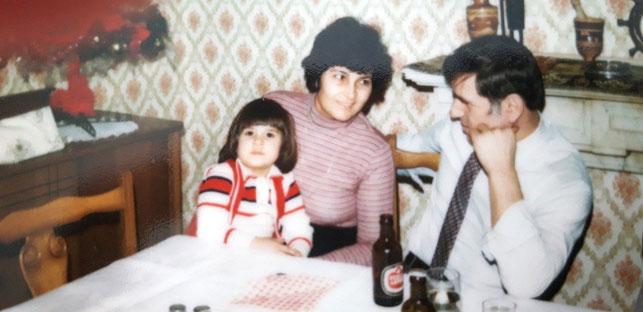 Familenbild im Jahr 1980 in Esslingen