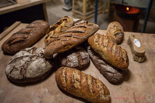 """A la Ferme du petit baron, les paysans-boulangers, Yanis et François, produisent du pain deux fois par semaine.  Ferme du petit baron, """"Videau"""" Baron; jeudi 24 septembre 2015"""