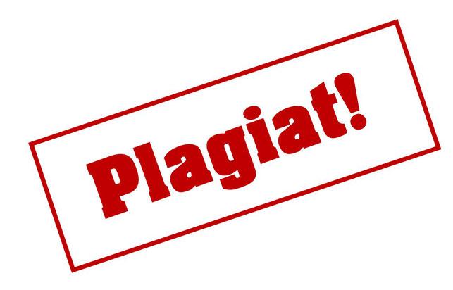 """roter Stempelabdruck mit dem Schriftzug """"Plagiat"""""""