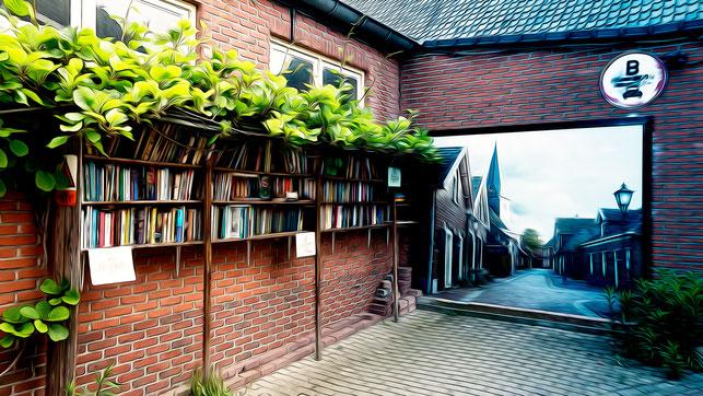 Scheinbarer Eingang zu den Katakomben von Bredevoort.