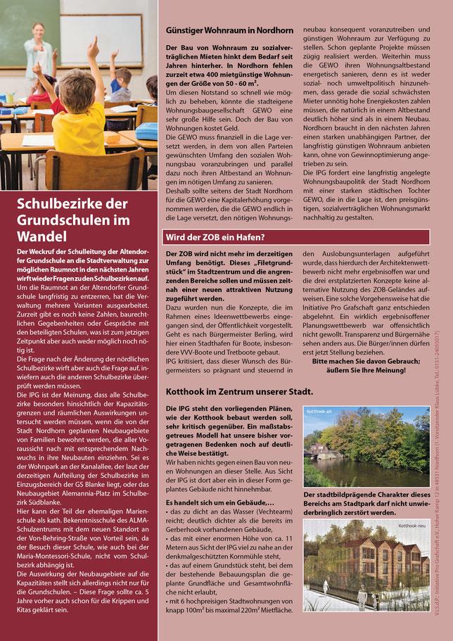 Informationsblatt der Stadtratsfraktion der Initiative Pro Grafschaft e.V. - KLICK - Jetzt lesen!