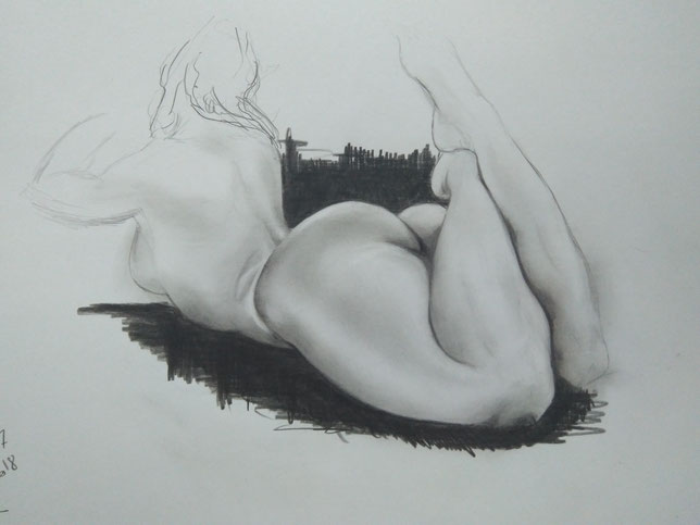 thick reclining nude