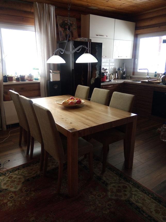 Стол обеденный,стол деревянный,стол из массива дуба,стол дизайнерский