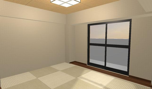 マンションリフォーム事例 和室イメージ図
