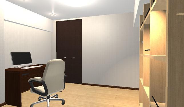 マンションリフォーム施工事例 洋室イメージ図