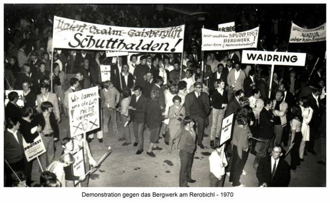 Bergwerksprotest 1970 – Foto Dorfchronik