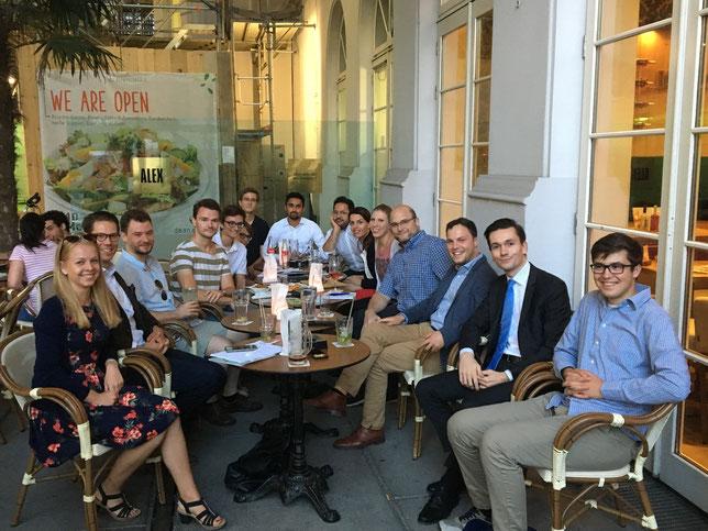 Der AK Wirtschaft und Digitales bei einem Treffen am 23.8.2018