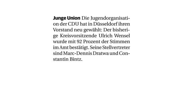 Rheinische Post vom 19.03.2019