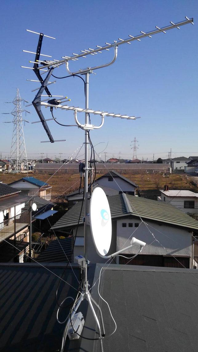千葉県鎌ケ谷市 アンテナ工事