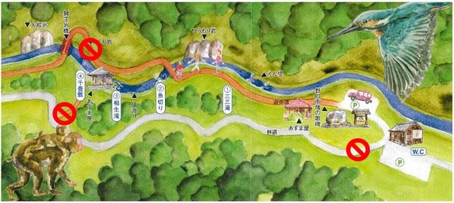 江津市桜江町側からの案内図
