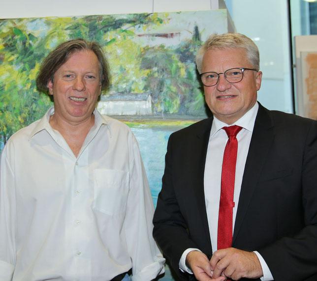 Gazmend Freitag, Bürgermeister Klaus Luger, 12.07.2021  © Robert Rieger